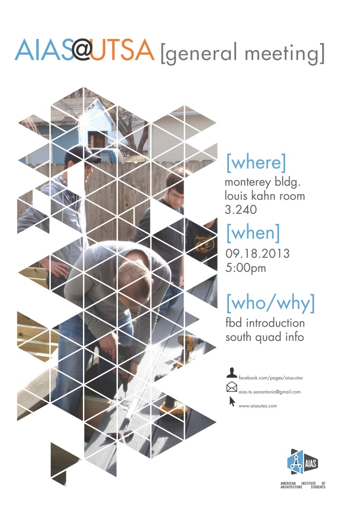 AIAS@UTSA General Meeting Poster [09.18.2013]